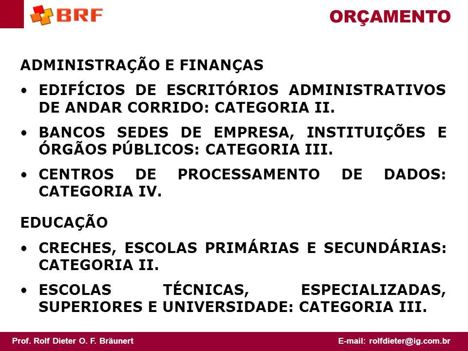 ORÇAMENTO ADMINISTRAÇÃO E FINANÇAS