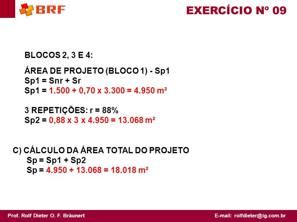 EXERCÍCIO Nº 09 BLOCOS 2, 3 E 4: ÁREA DE PROJETO (BLOCO 1) - Sp1