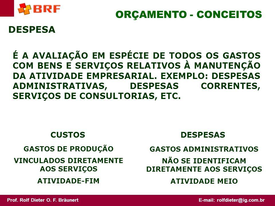 ORÇAMENTO - CONCEITOS DESPESA
