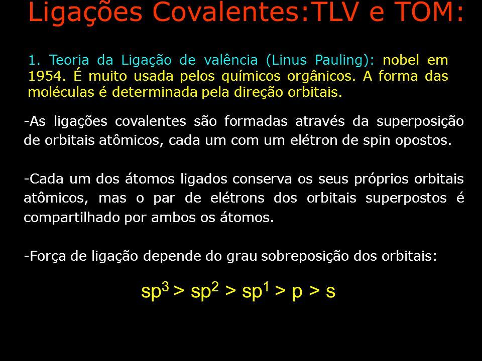 Ligações Covalentes:TLV e TOM: