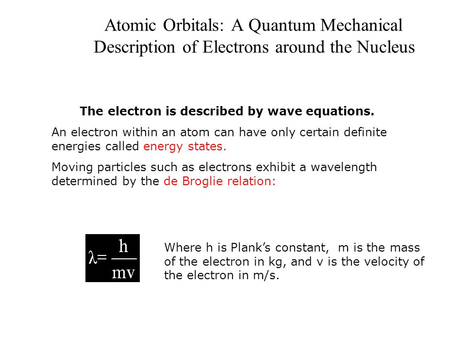 The electron is described by wave equations.
