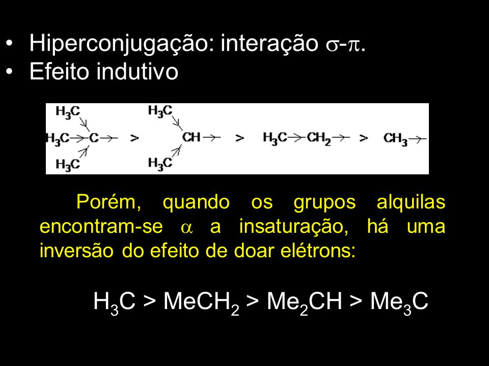 H3C > MeCH2 > Me2CH > Me3C