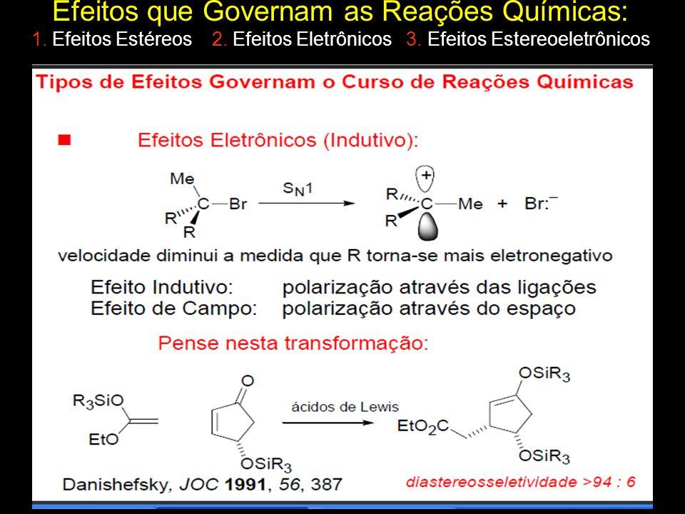 Efeitos que Governam as Reações Químicas: