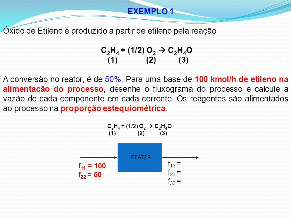 Óxido de Etileno é produzido a partir de etileno pela reação