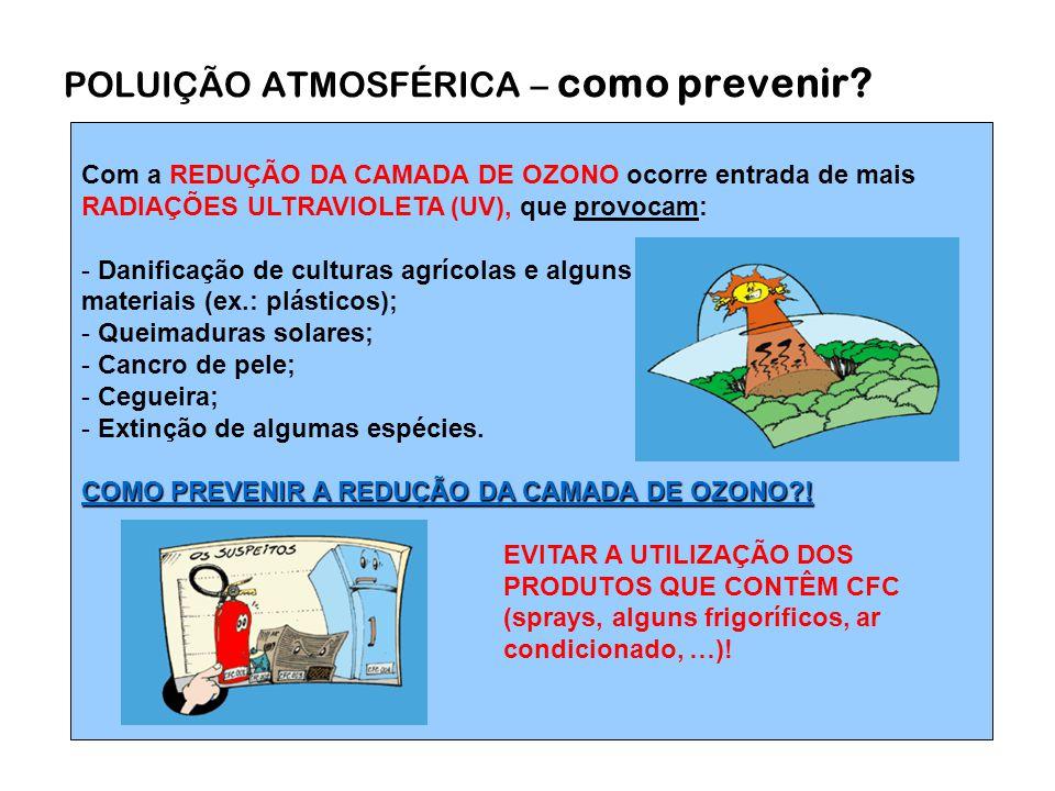 POLUIÇÃO ATMOSFÉRICA – como prevenir