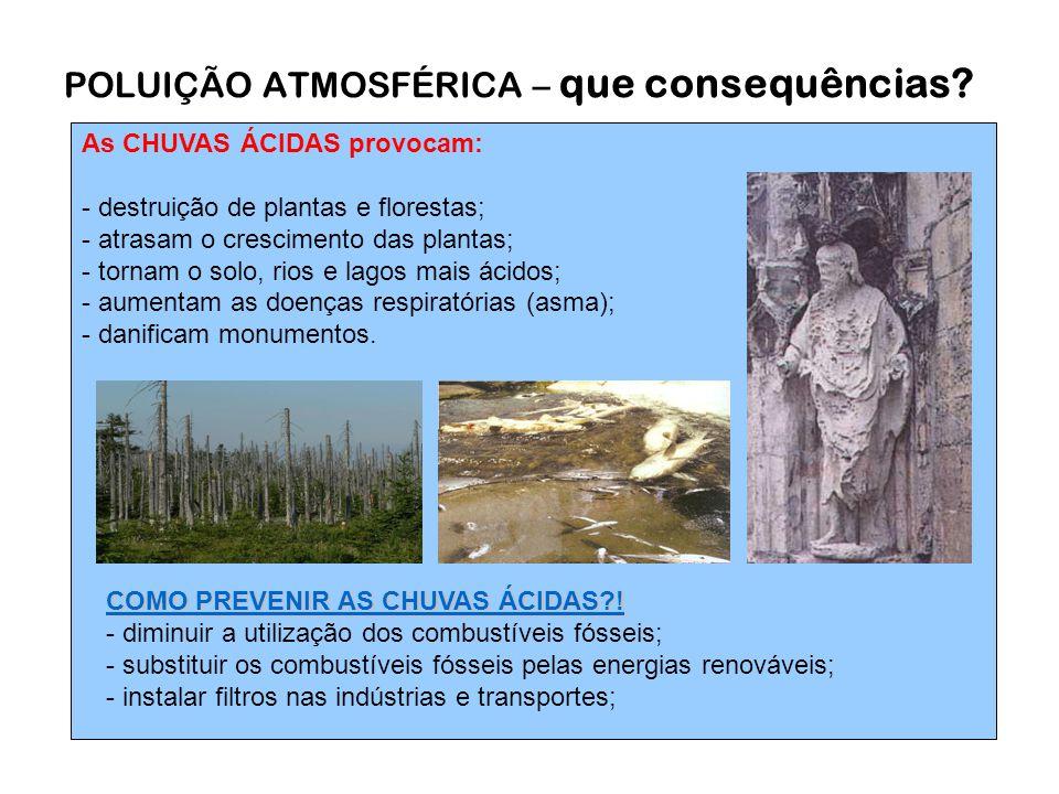 POLUIÇÃO ATMOSFÉRICA – que consequências