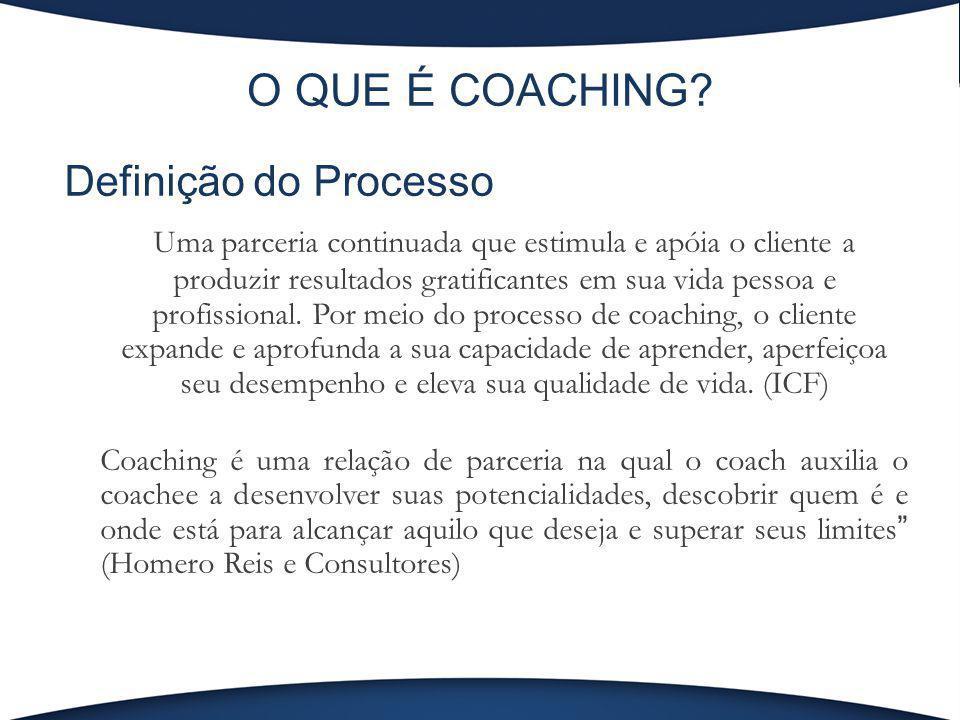 O QUE É COACHING Definição do Processo