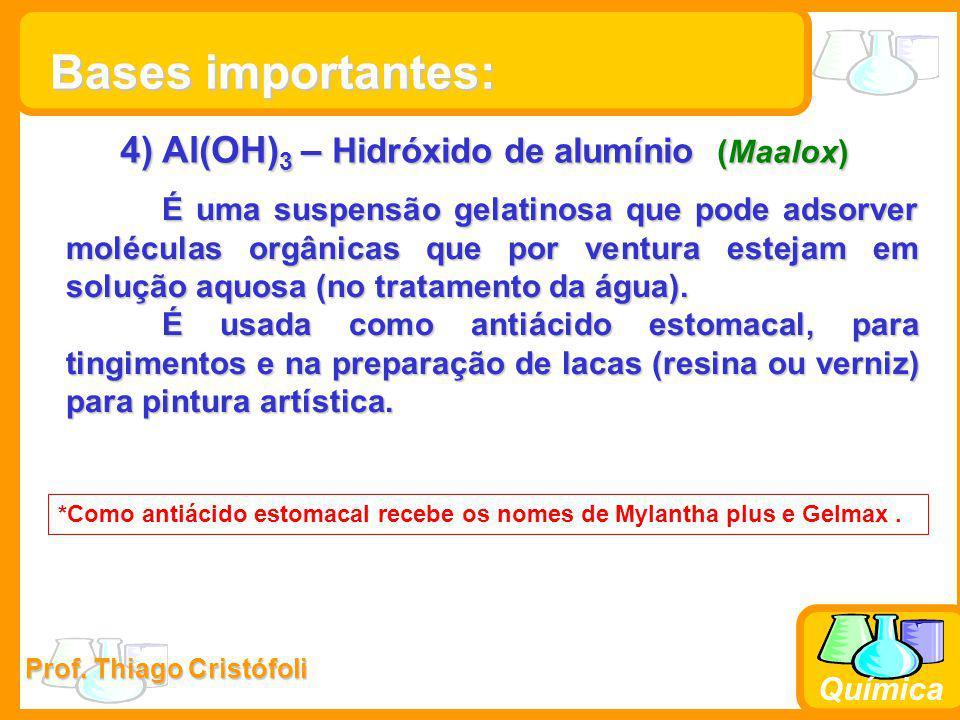 4) Al(OH)3 – Hidróxido de alumínio (Maalox)