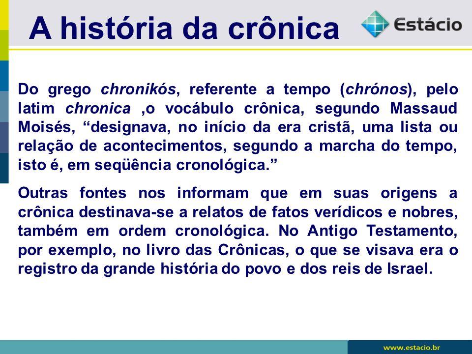 A história da crônica