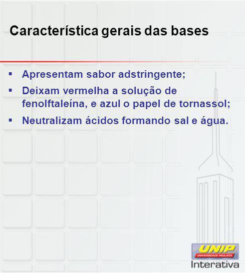 Característica gerais das bases