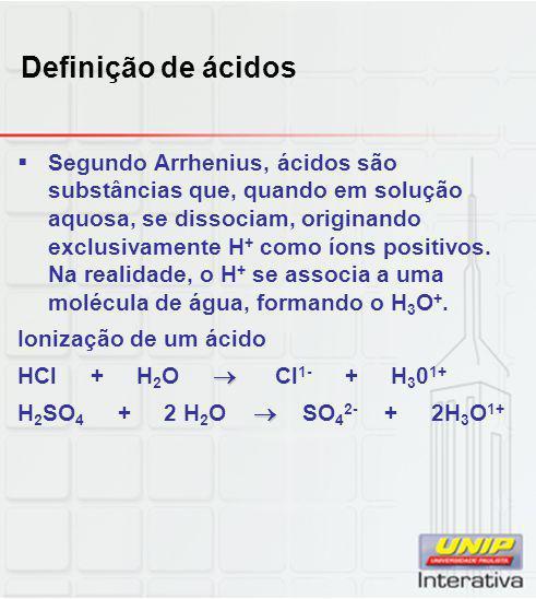 Definição de ácidos