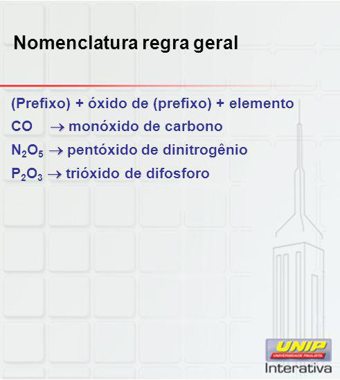 Nomenclatura regra geral