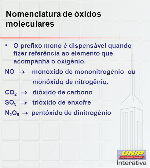 Nomenclatura de óxidos moleculares