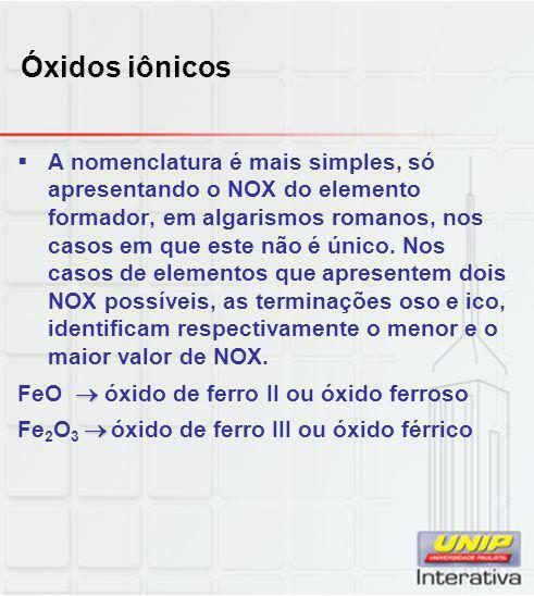 Óxidos iônicos