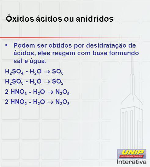 Óxidos ácidos ou anidridos