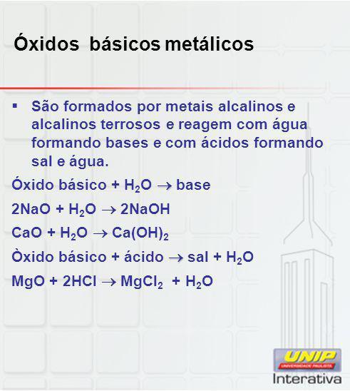 Óxidos básicos metálicos