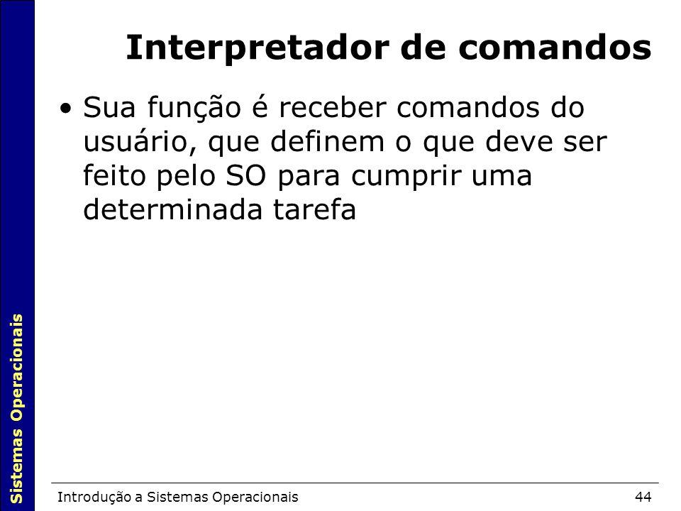 Interpretador de comandos