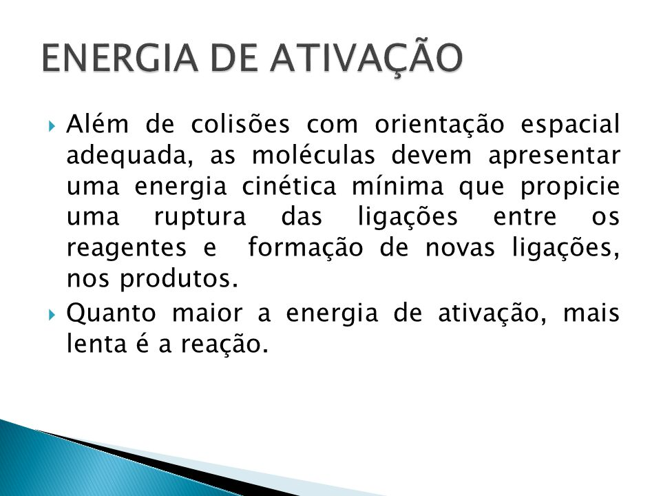 ENERGIA DE ATIVAÇÃO