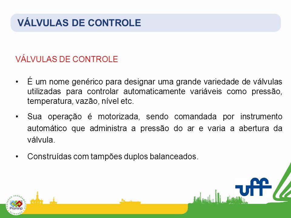VÁLVULAS DE CONTROLE VÁLVULAS DE CONTROLE