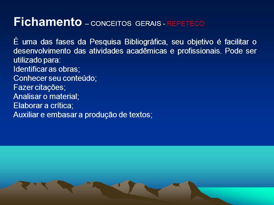 Fichamento – CONCEITOS GERAIS - REPETECO