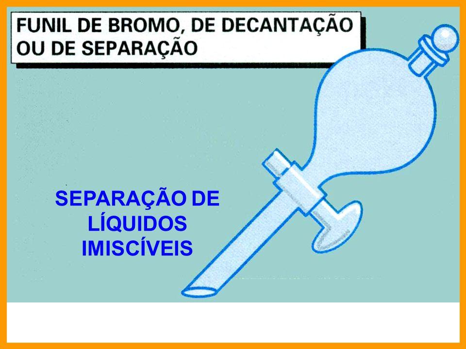 SEPARAÇÃO DE LÍQUIDOS IMISCÍVEIS