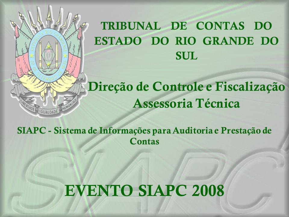 SIAPC - Sistema de Informações para Auditoria e Prestação de Contas