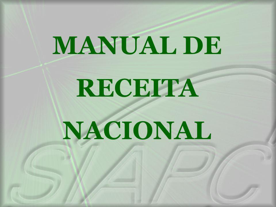 MANUAL DE RECEITA NACIONAL