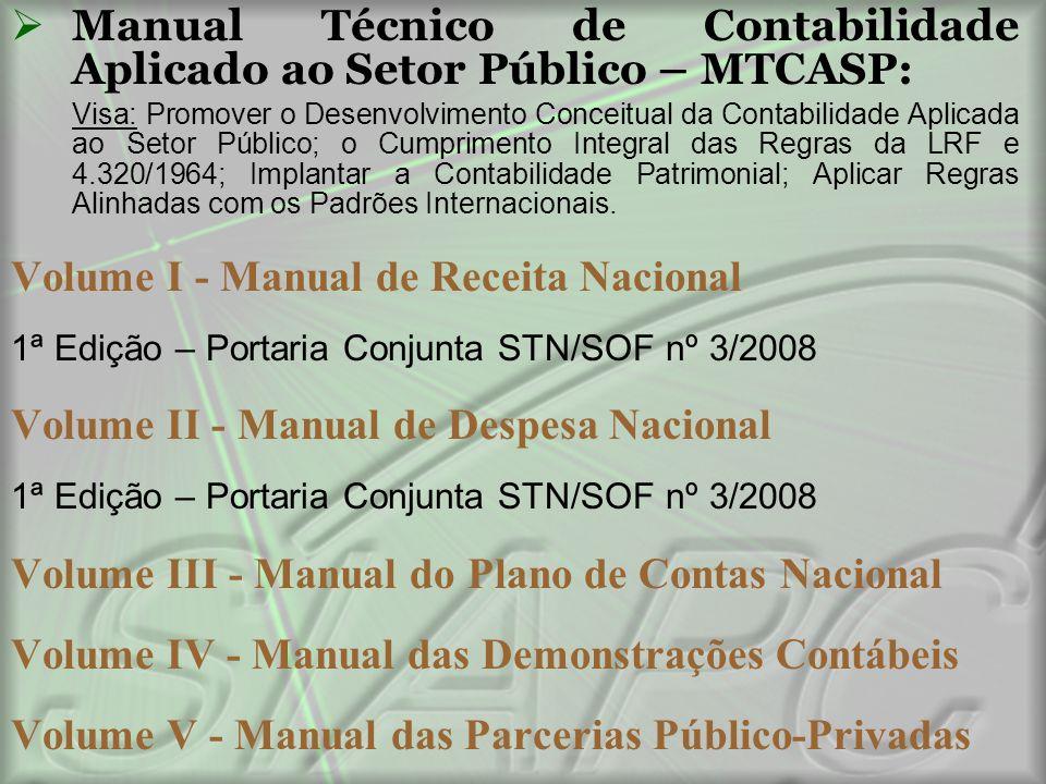 Manual Técnico de Contabilidade Aplicado ao Setor Público – MTCASP: