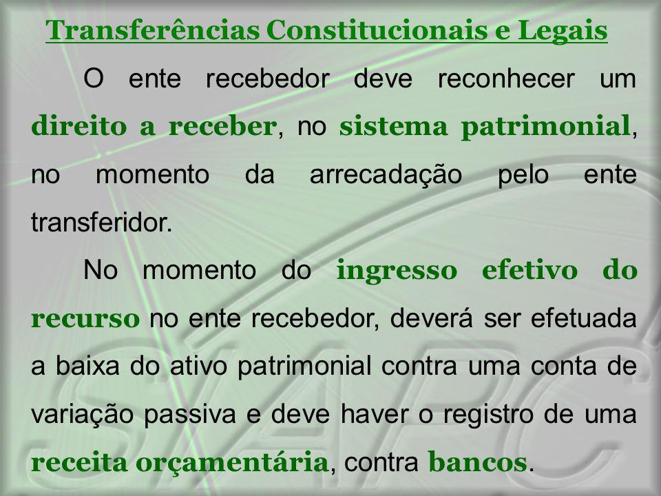 Transferências Constitucionais e Legais