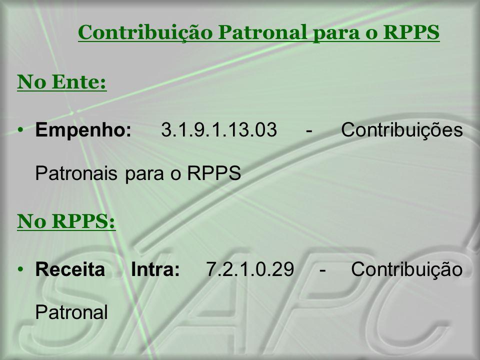 Contribuição Patronal para o RPPS
