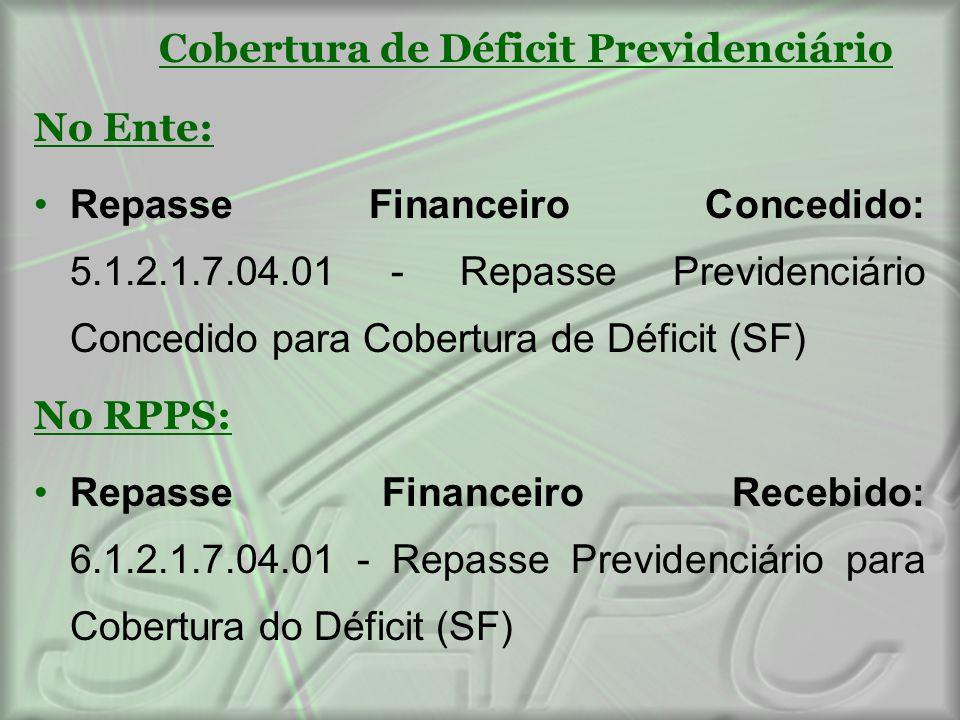 Cobertura de Déficit Previdenciário