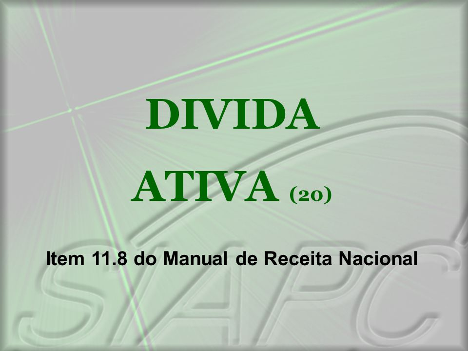 Item 11.8 do Manual de Receita Nacional
