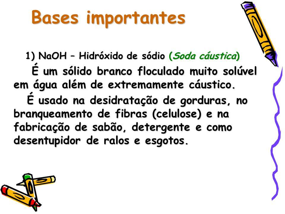 1) NaOH – Hidróxido de sódio (Soda cáustica)