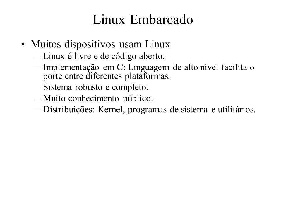 Linux Embarcado Muitos dispositivos usam Linux