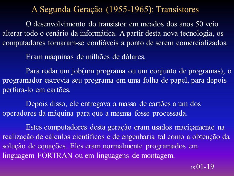 A Segunda Geração (1955-1965): Transistores