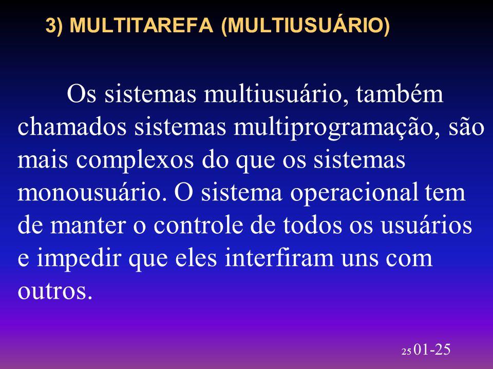3) MULTITAREFA (MULTIUSUÁRIO)