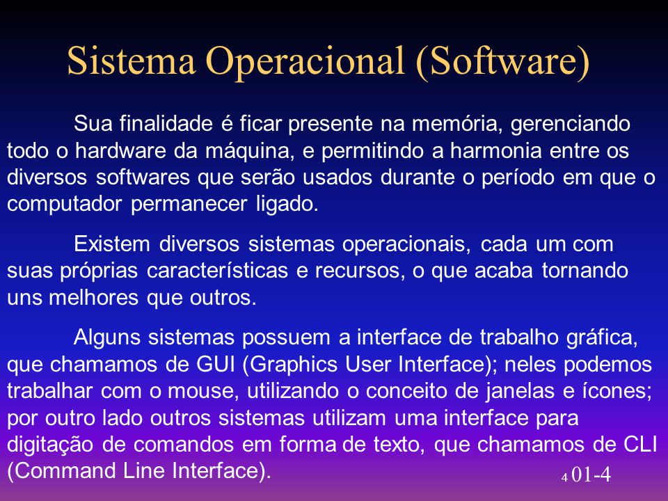 Sistema Operacional (Software)