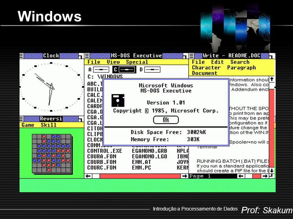Windows Introdução a Processamento de Dados