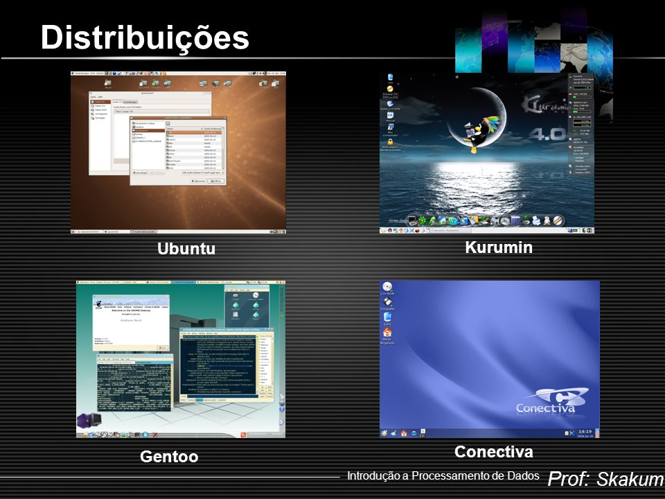 Distribuições Ubuntu Kurumin Conectiva Gentoo