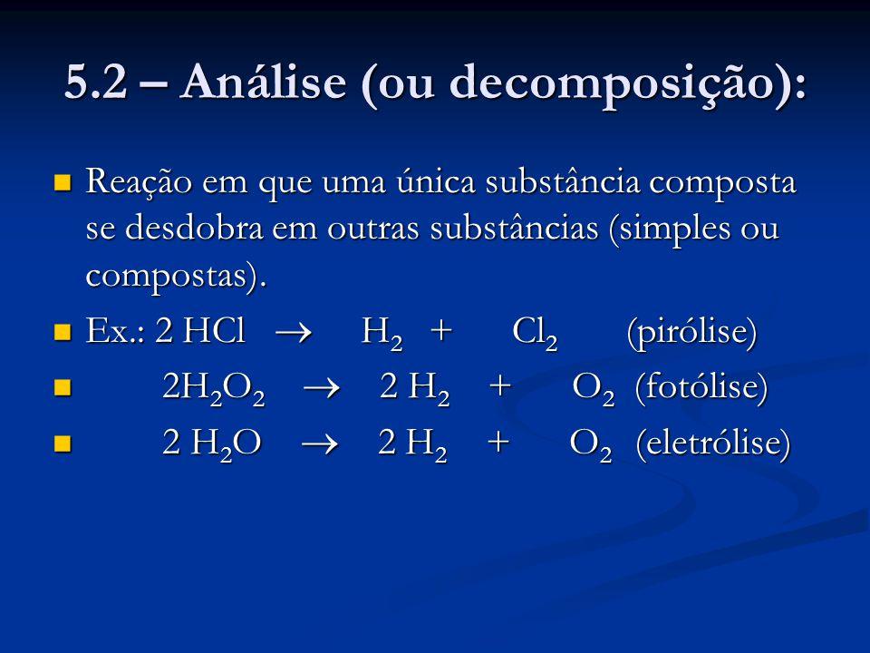 5.2 – Análise (ou decomposição):