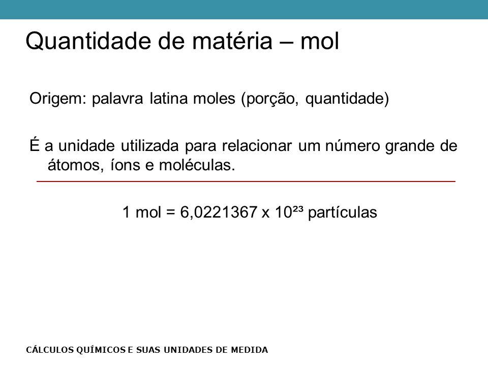 Quantidade de matéria – mol