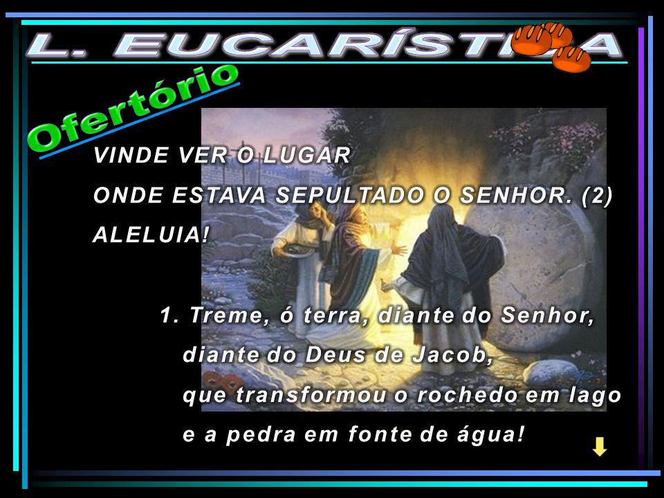 L. EUCARÍSTICA Ofertório VINDE VER O LUGAR