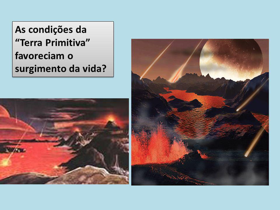 As condições da Terra Primitiva favoreciam o surgimento da vida
