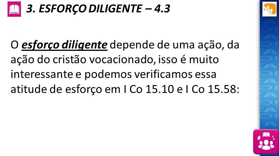 3. ESFORÇO DILIGENTE – 4.3