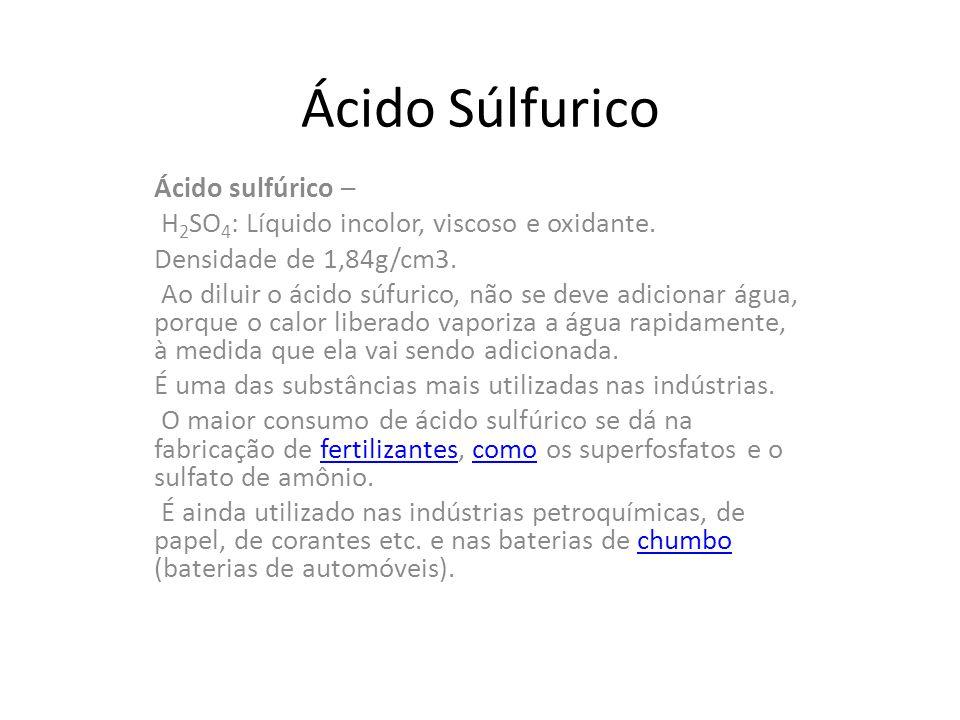 Ácido Súlfurico Ácido sulfúrico –