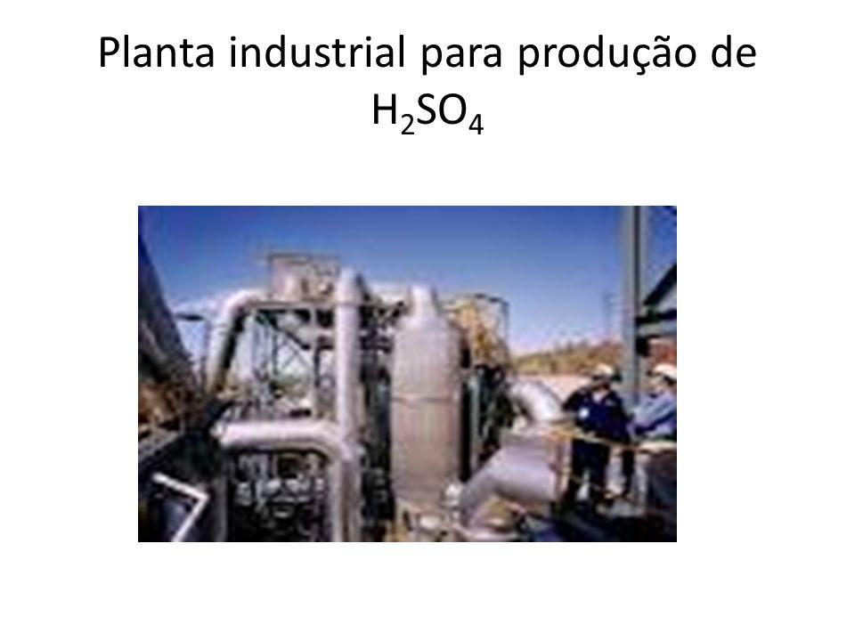 Planta industrial para produção de H2SO4