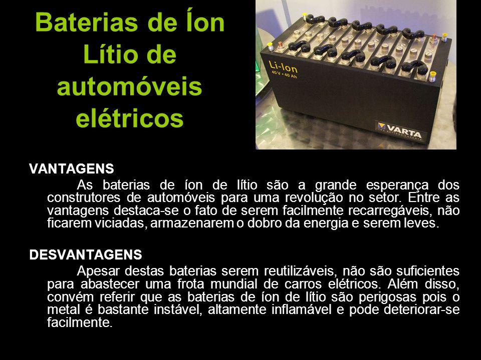 Baterias de Íon Lítio de automóveis elétricos