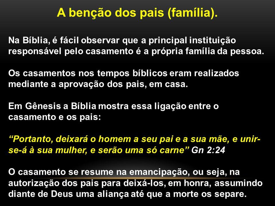 A benção dos pais (família).