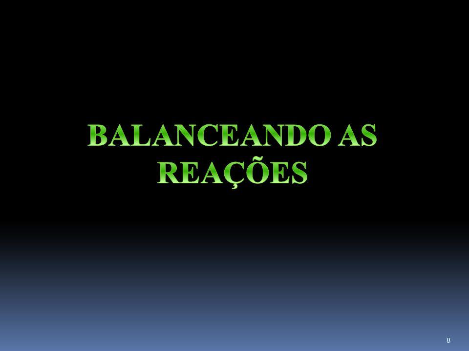 BALANCEANDO AS REAÇÕES