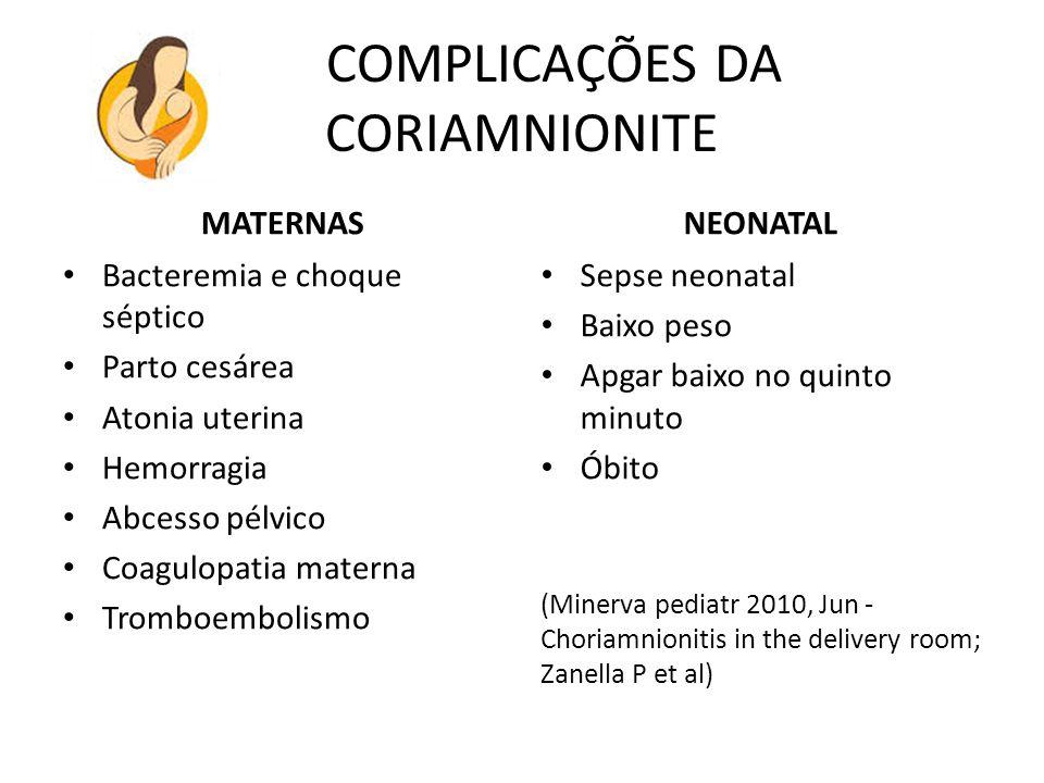 COMPLICAÇÕES DA CORIAMNIONITE